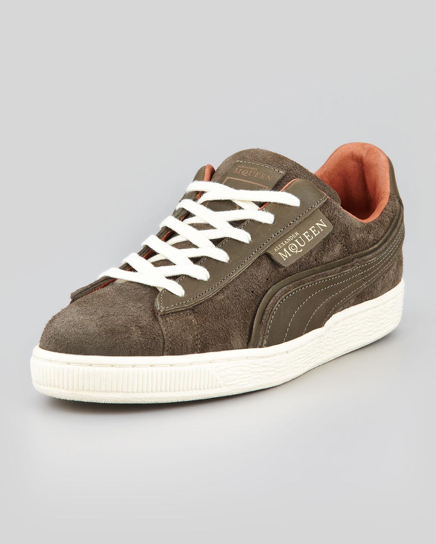 13feb78ff82037 Lyst - Alexander McQueen X Puma Amq Suede Laceup Sneaker Gray in ...