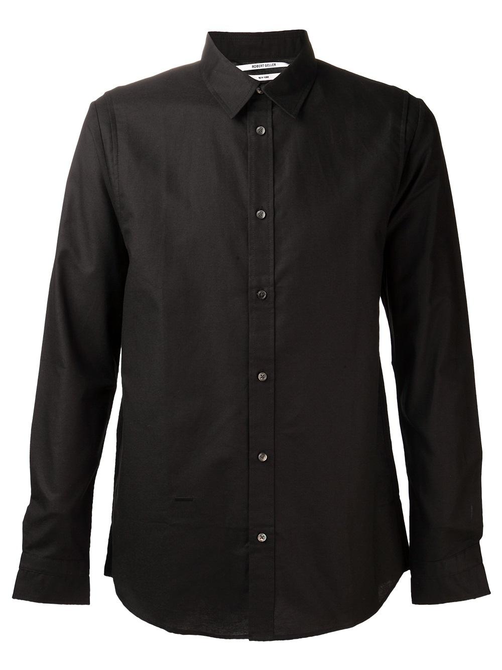 Lyst robert geller pleated dress shirt in black for men for Black pleated dress shirt