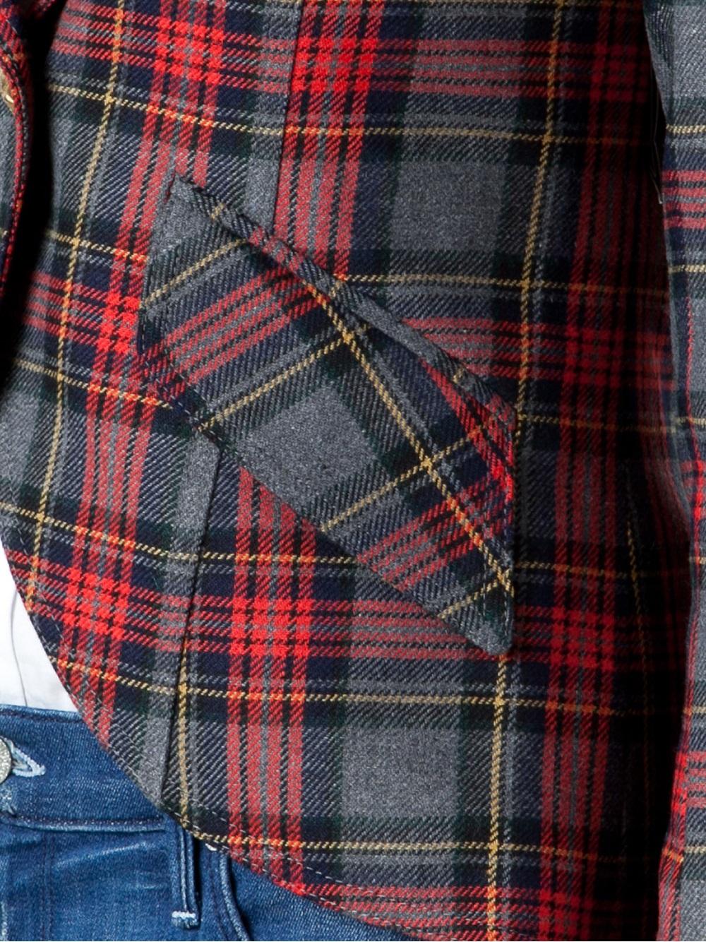 Lyst Smythe Tartan Plaid Blazer In Red