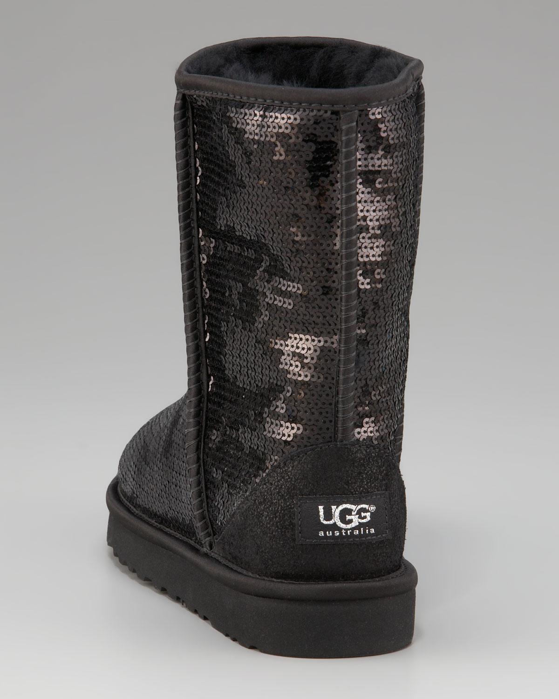 black glitter uggs