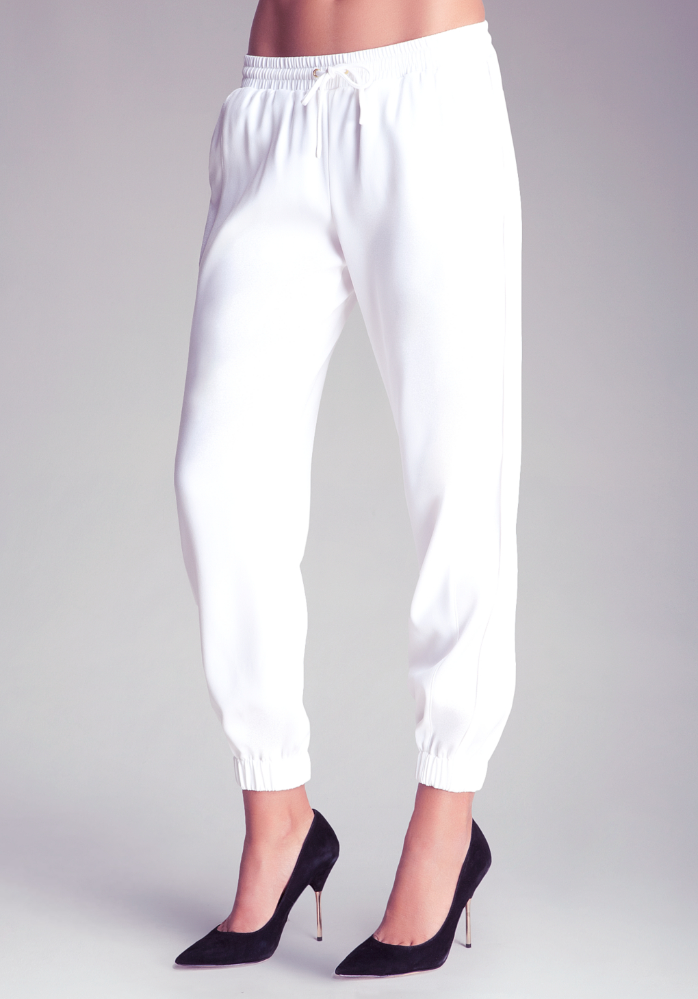 Bebe Contrast Track Pants in White | Lyst