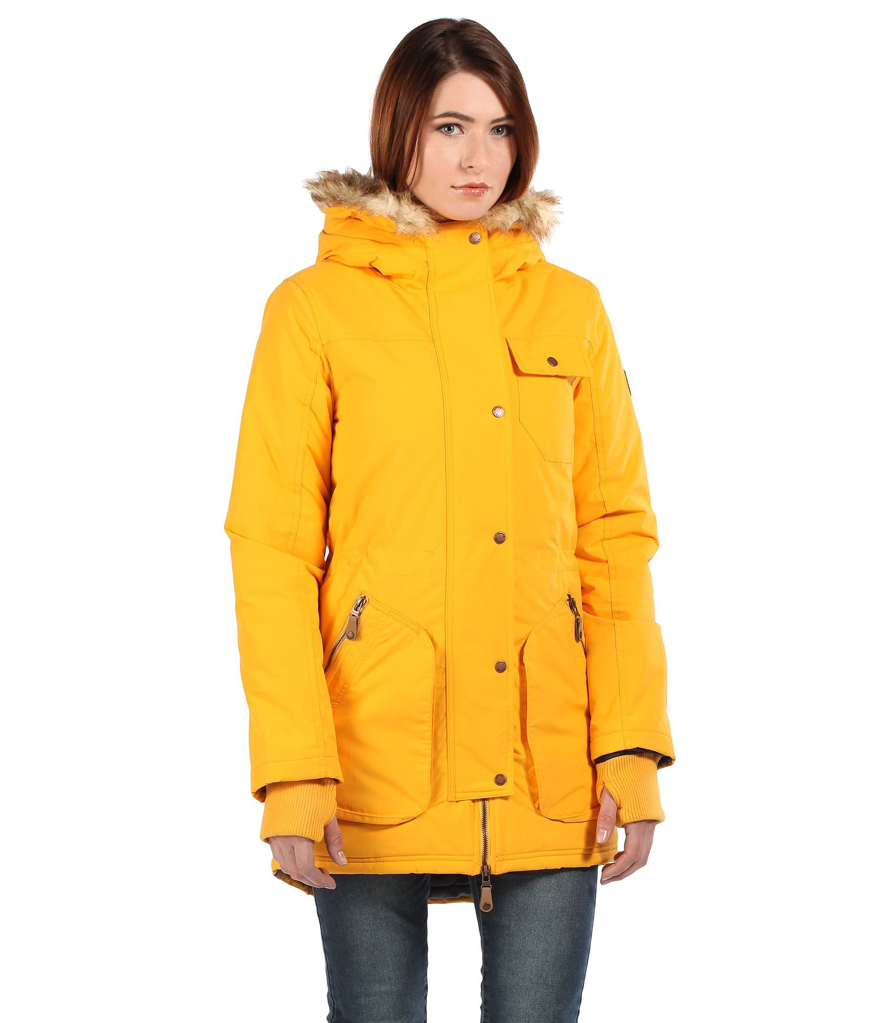 Bench Hailstone Jacket In Yellow Lyst