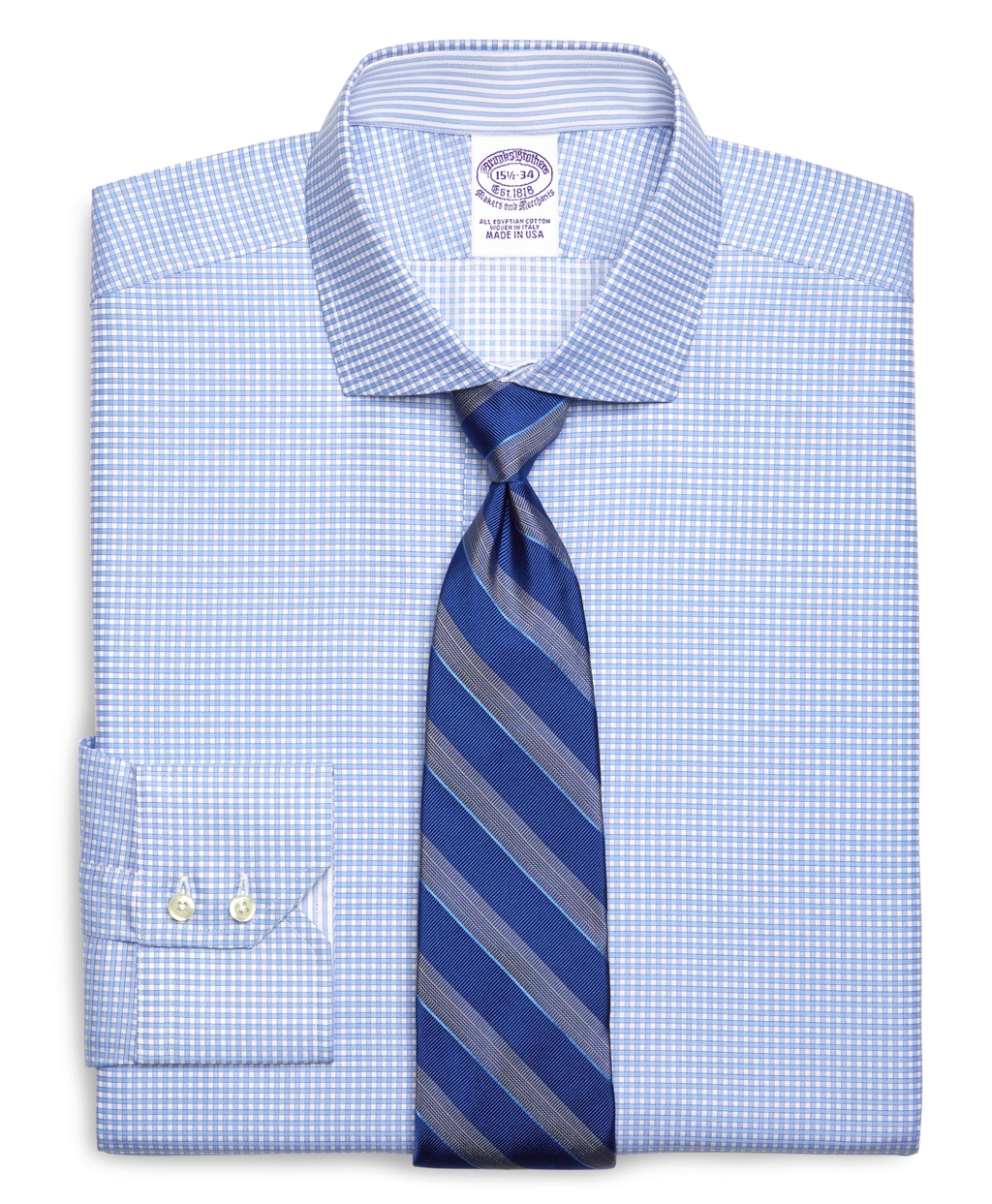 Brooks brothers egyptian cotton regular fit spread collar for Men s spread collar shirts