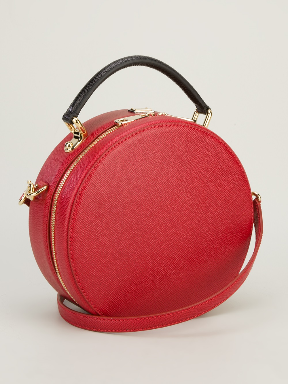 Dolce & gabbana Small Round Shoulder Bag in Red | Lyst