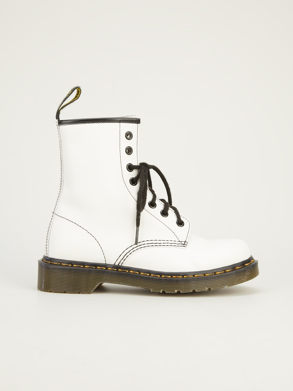 e40e7d7a59e Dr. Martens Milled Boot in White - Lyst