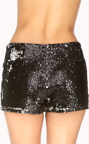 Forever 21 Dance Off Sequined Shorts in Black (Black ...