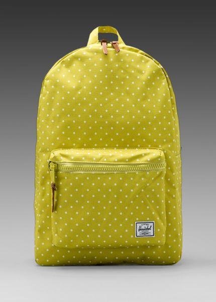 Herschel Supply Co Settlement Polka Dot Backpack In Lemon