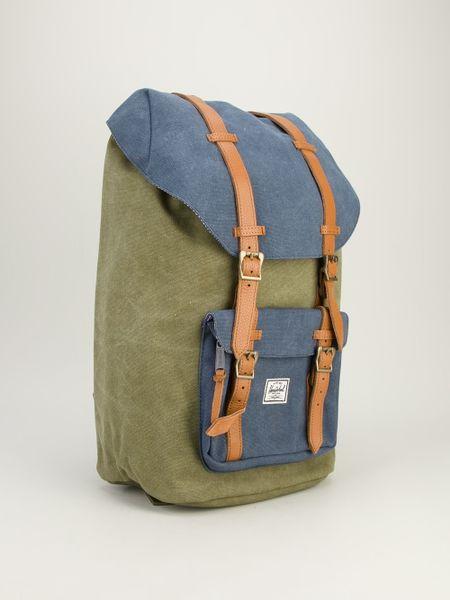 River Island Army Badge Backpack