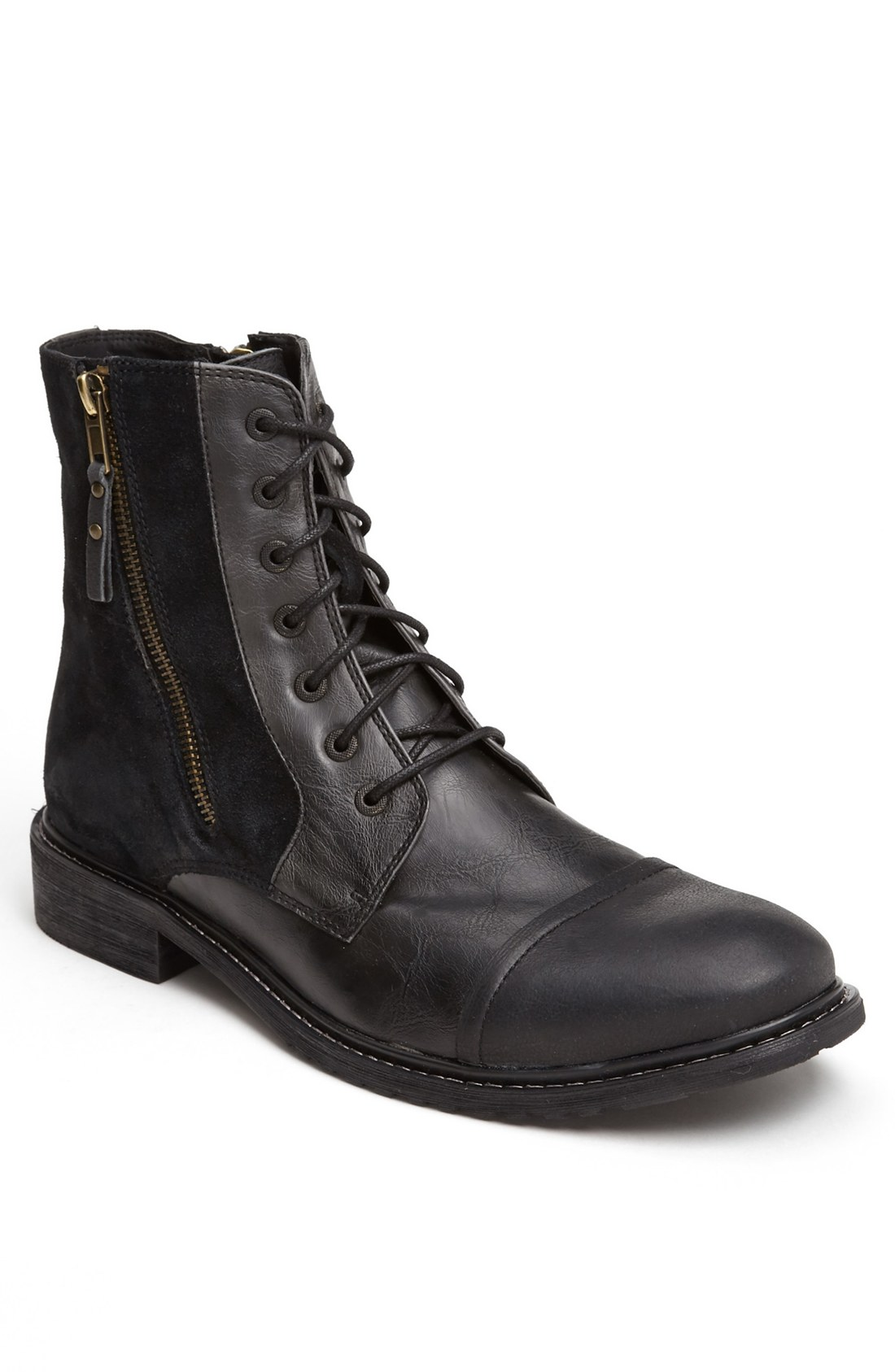 kenneth cole reaction hit cap toe boot in black for