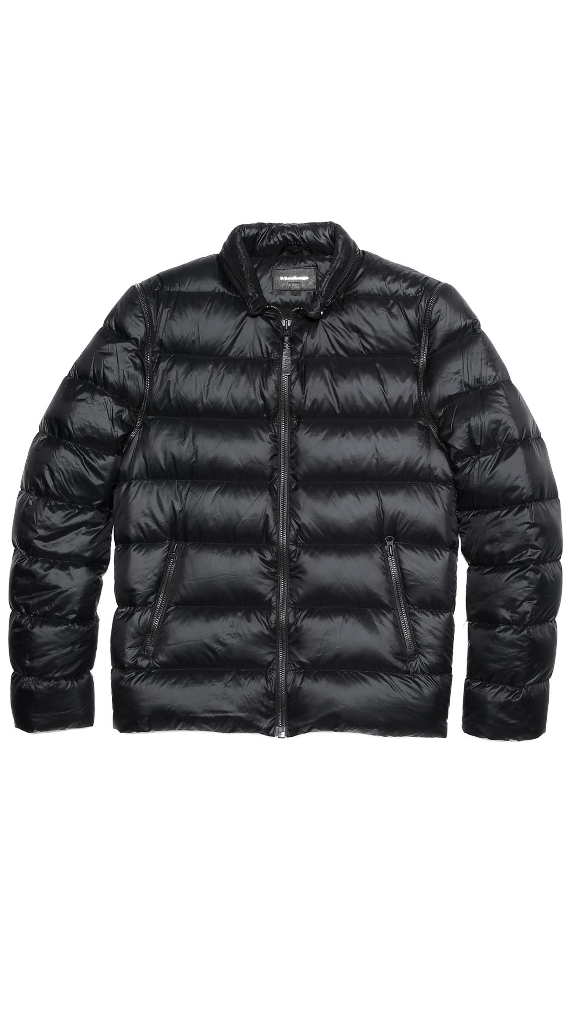 Lyst Mackage Fritz Genuine Sheepskin Fur Amp Leather