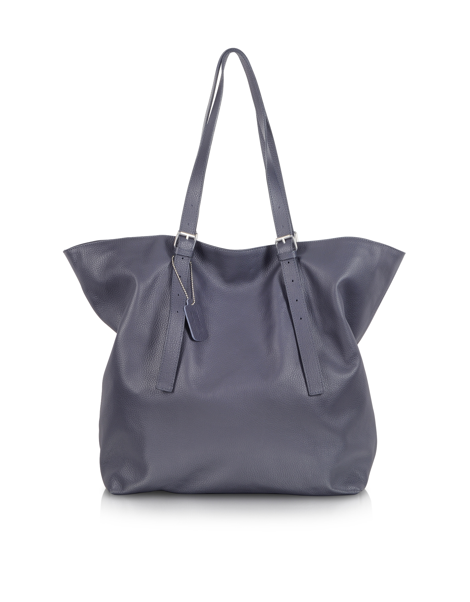 Maison Margiela Large Blue Leather Tote Bag in Blue