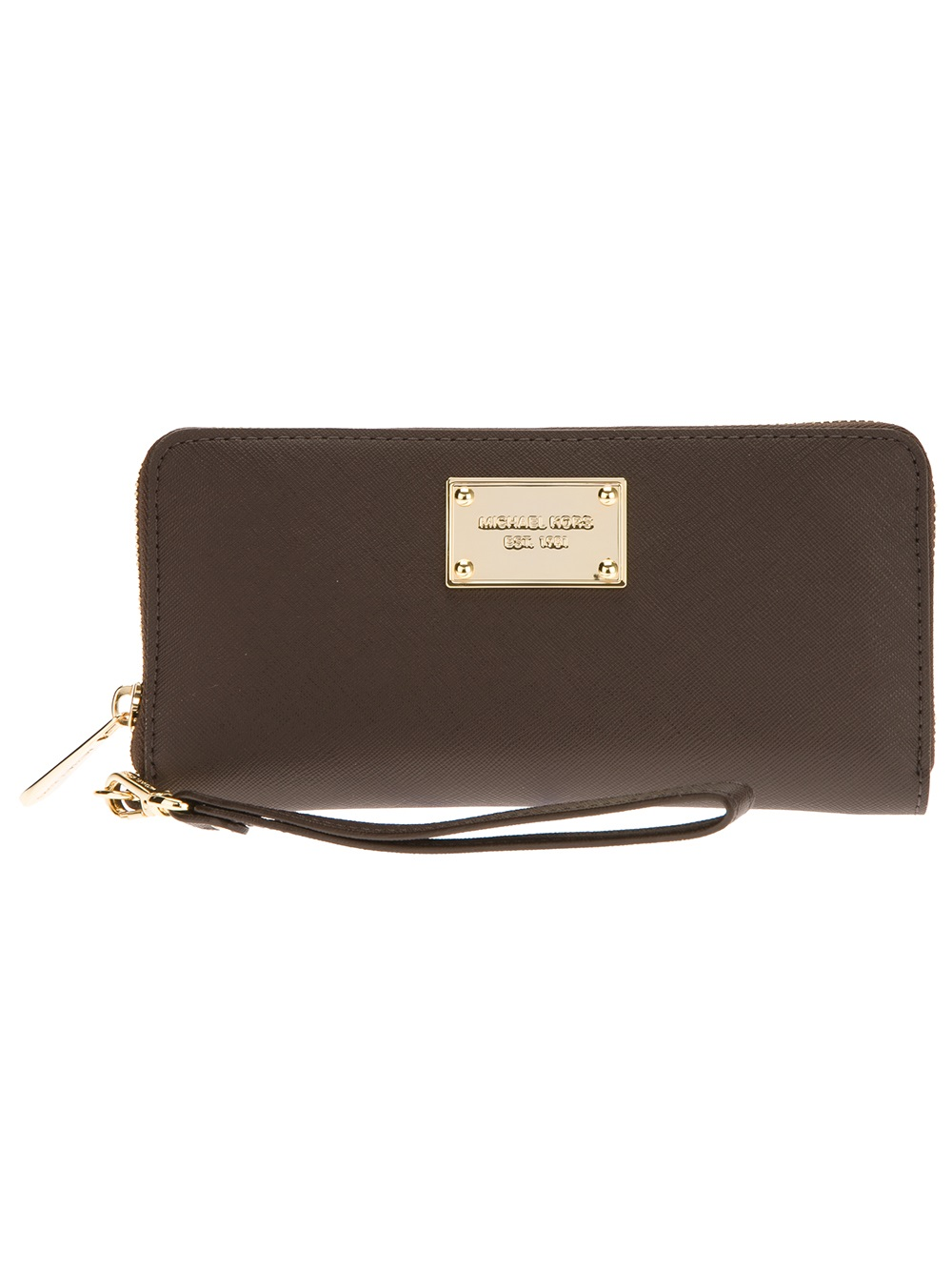 michael kors iphone 5 continental wallet in brown lyst. Black Bedroom Furniture Sets. Home Design Ideas