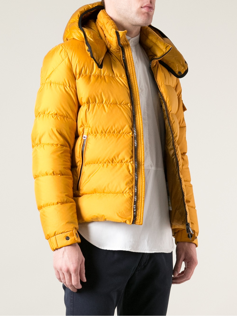 Lyst Moncler Hymalay Padded Jacket In Yellow For Men