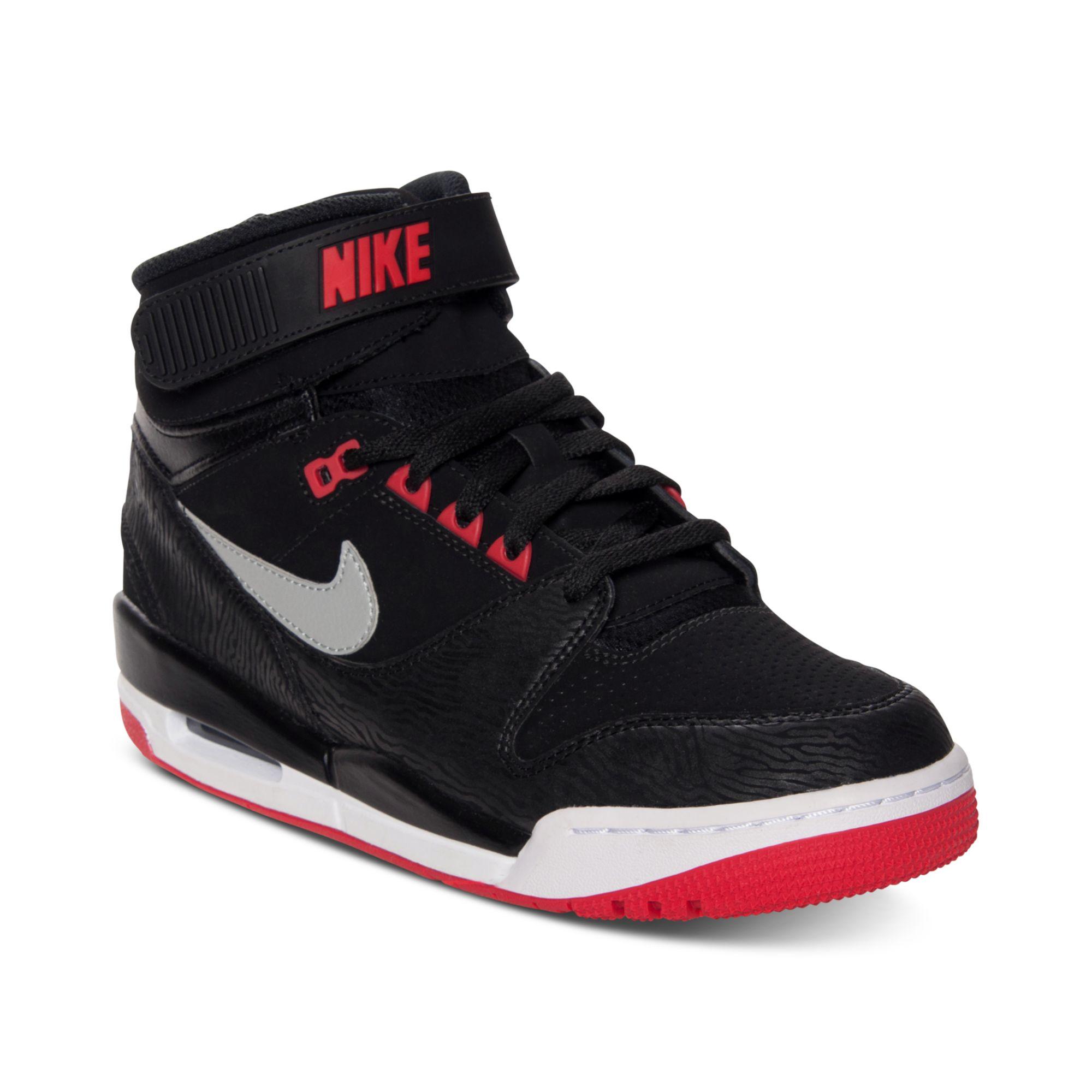 nike air revolution basketball sneakers in black for men. Black Bedroom Furniture Sets. Home Design Ideas