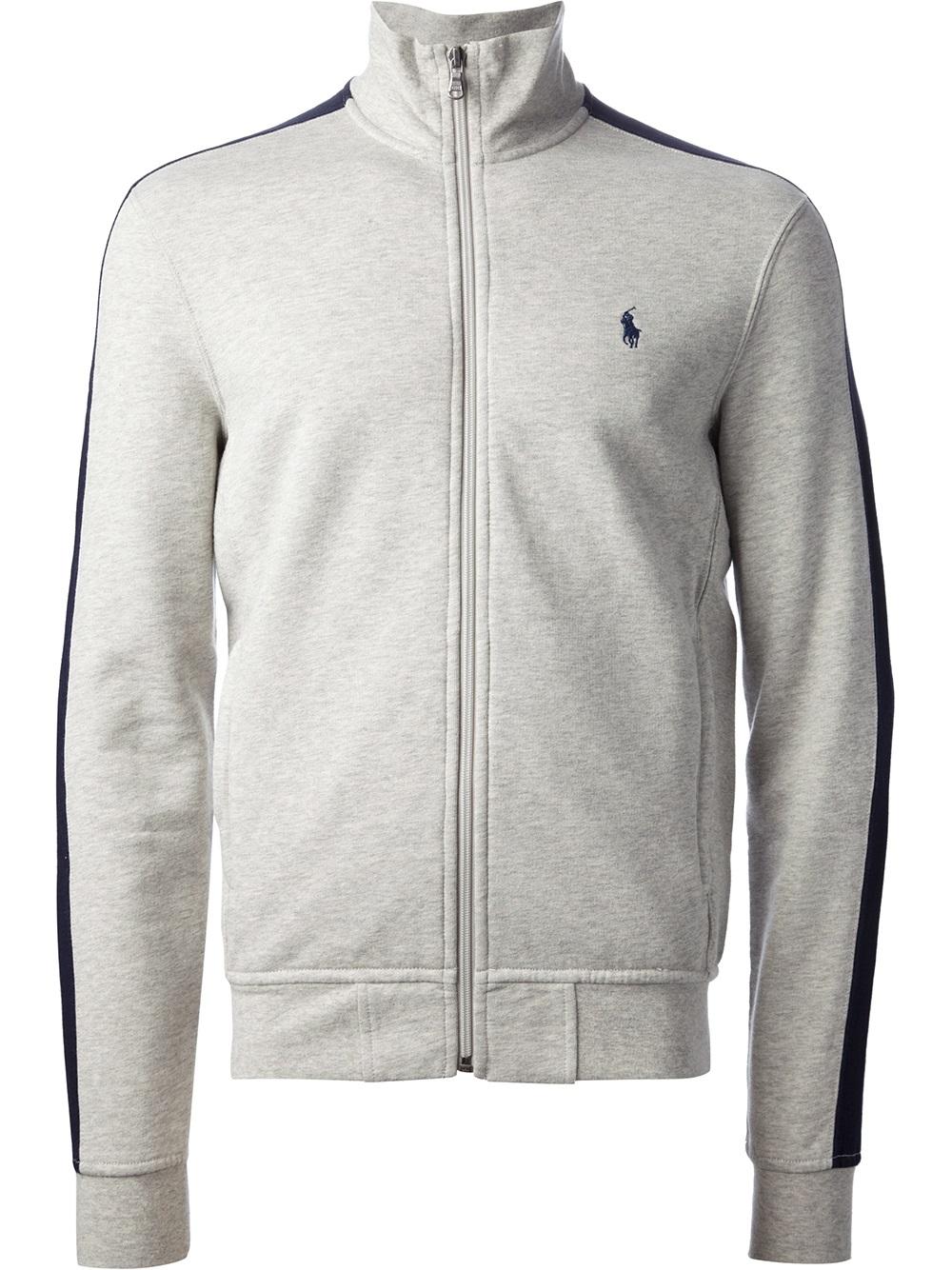 Polo Ralph Lauren Zipup Sweater In Gray For Men Lyst