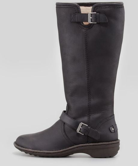 tall leather uggs