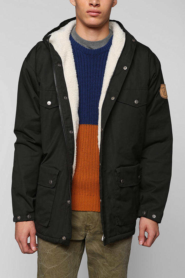 Urban Outfitters Fjall Raven Greenland Winter Jacket In Black For