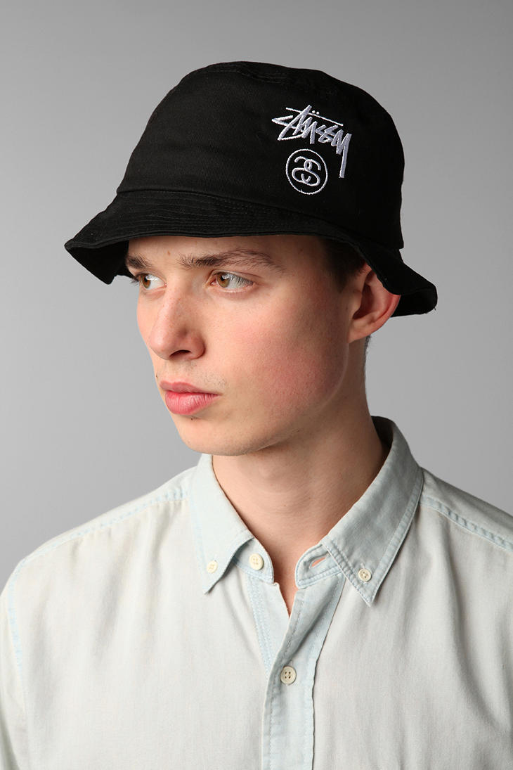 Lyst - Urban Outfitters Stussy Stocklock Bucket Hat in Black for Men 7b4b2be5d71
