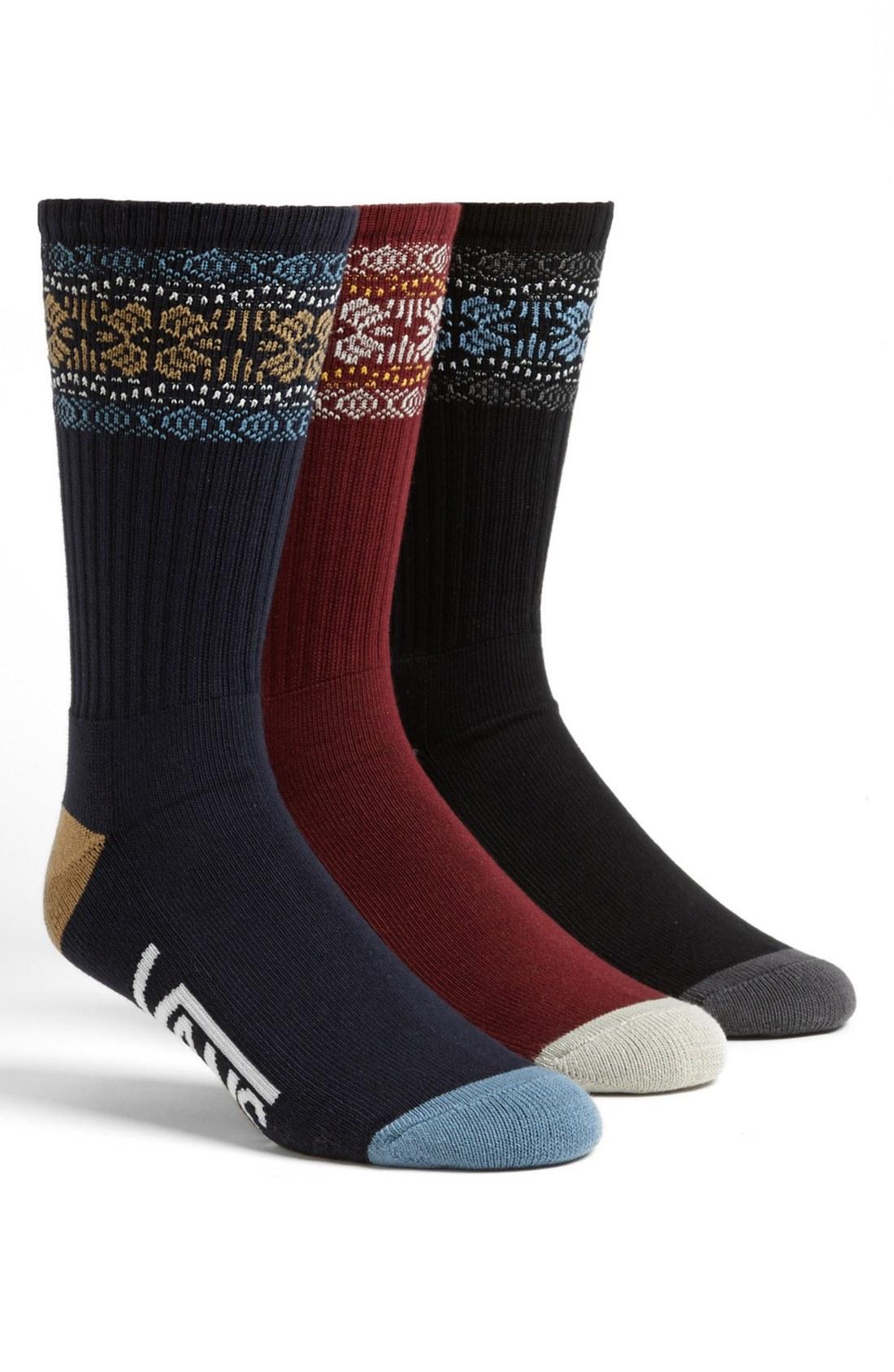 vans mens black socks