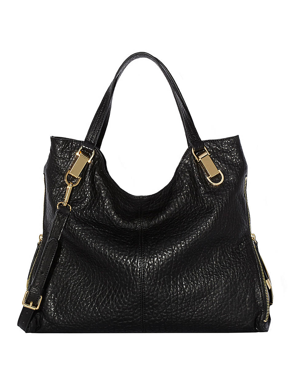 Vince Camuto Riley Leather Tote Bag In Black Lyst