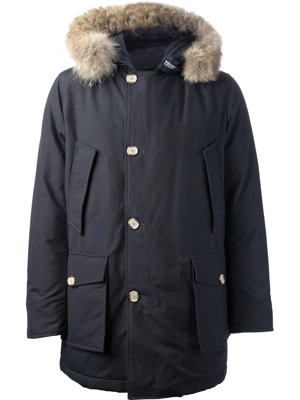 Lyst Woolrich Arctic Slim Fit Parka In Blue For Men