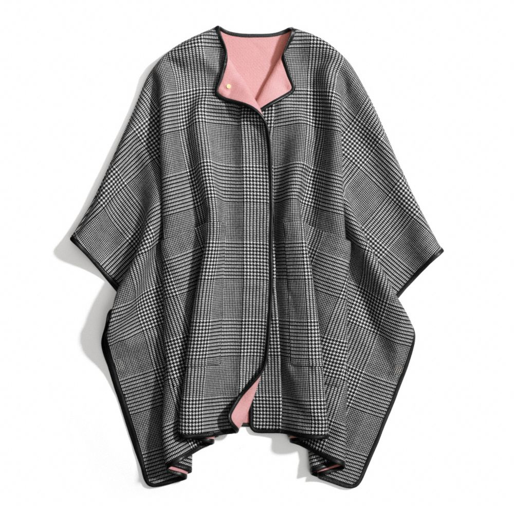 coach double face wool blanket cape in pink deco pink lyst. Black Bedroom Furniture Sets. Home Design Ideas