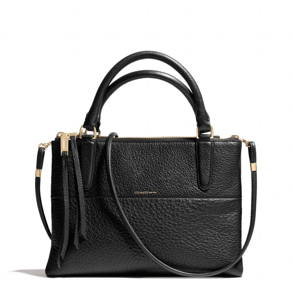 coach mini borough bag in pebbled leather in black lyst