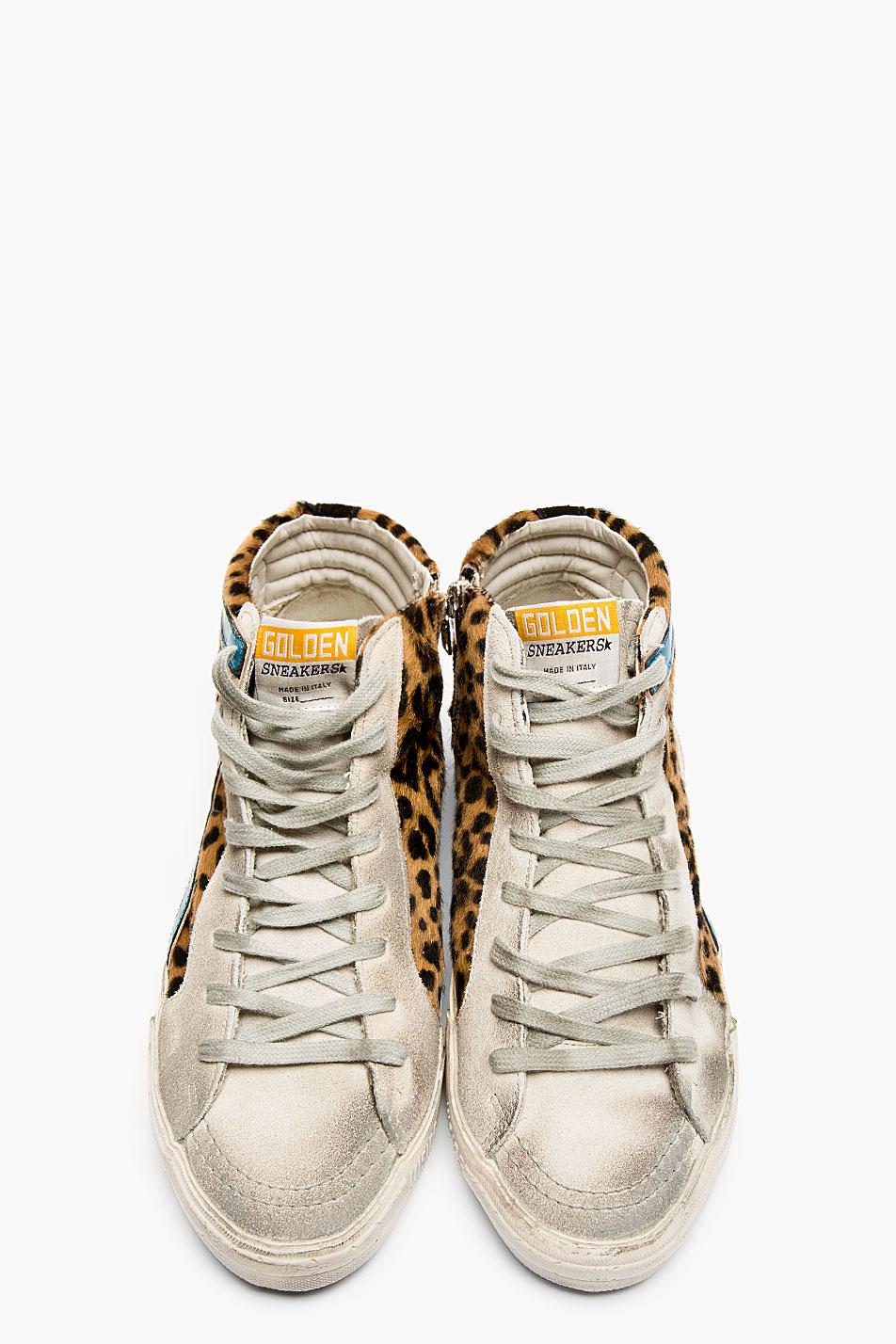 Golden Goose Leopard Grey