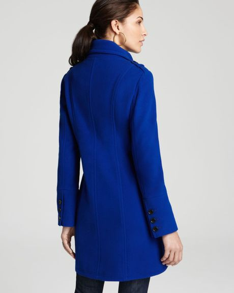 Marc New York Double Breasted Tail Coat In Blue Cobalt