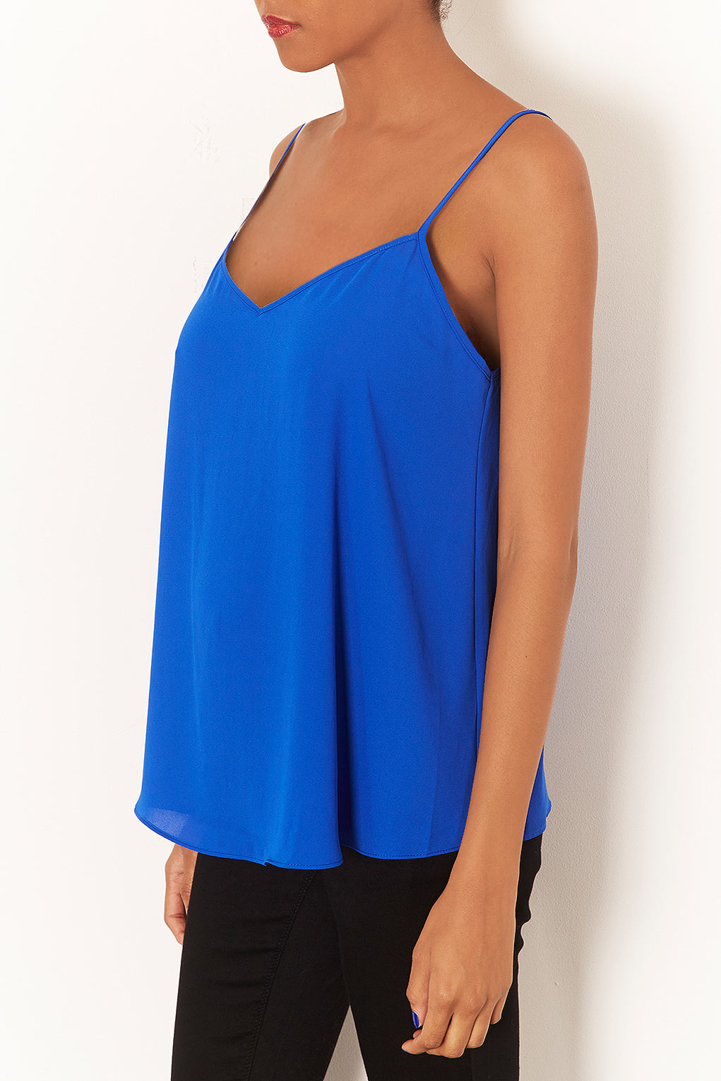5503528ef223e Lyst - TOPSHOP Maternity Strappy Cami Top in Blue