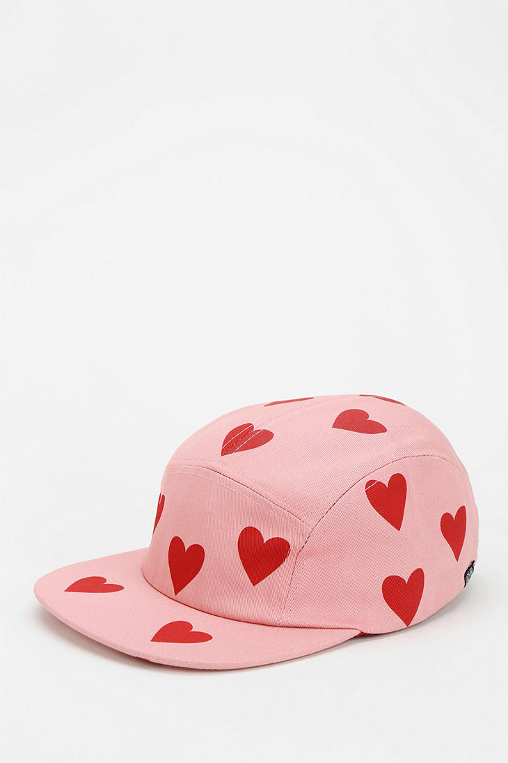 922dc6da722 Lyst - Urban Outfitters Lazy Oaf Lots Of Love Baseball Hat in Pink