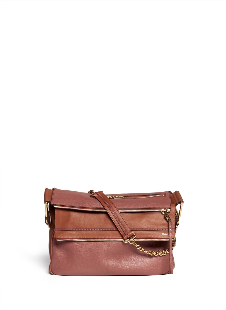 handbags see by chloe - Chlo�� 'vanessa' Leather Chain Bag in Brown (Purple) | Lyst