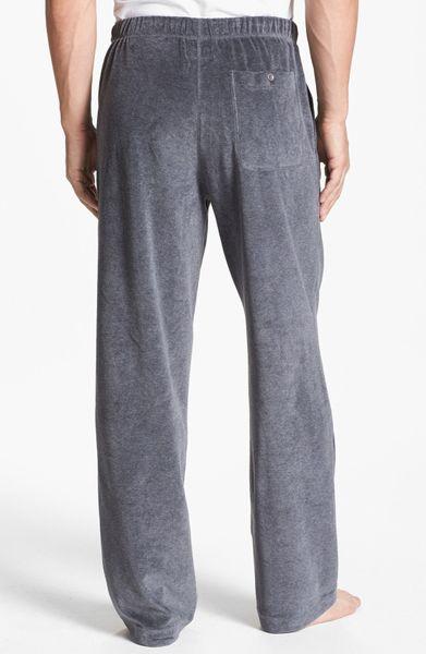 Daniel Buchler Velour Lounge Pants In Gray For Men