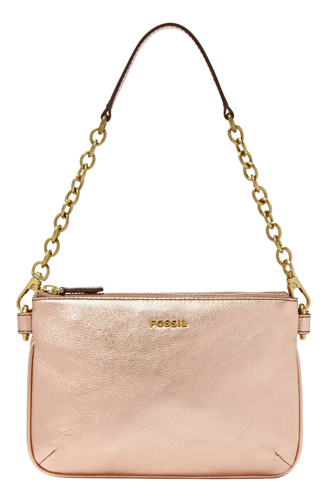 Fossil Memoir Leather Shoulder Bag in Pink | Lyst
