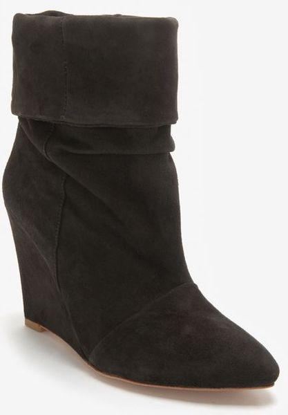 plomo slouchy suede boot in gray grey lyst