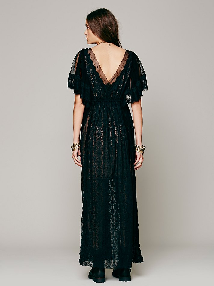 Free People Witchy Woman Maxi Dress In Black Lyst
