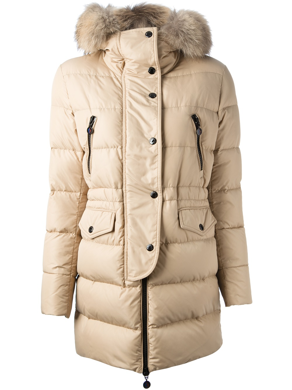 a916e656e Moncler Fragon Padded Coat in Natural - Lyst