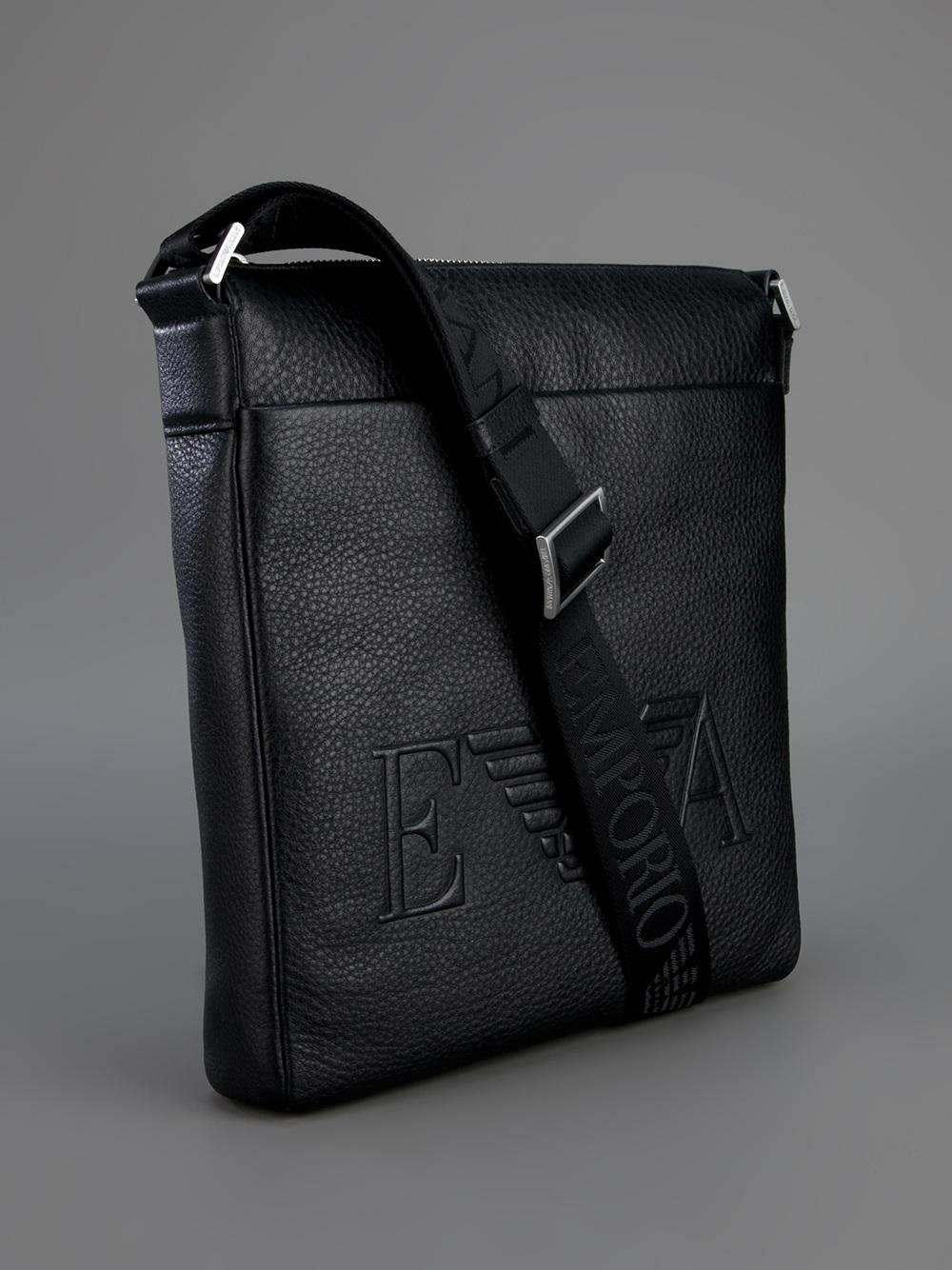 6b17e22cfc7 Emporio Armani Messenger Bag in Black for Men - Lyst