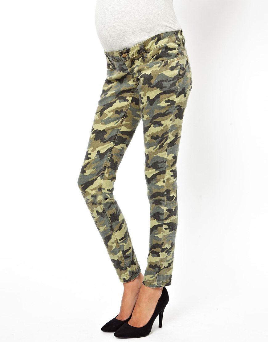 3ad1540c00b G-Star RAW Mama Licious Maternity Camouflage Jeans - Lyst