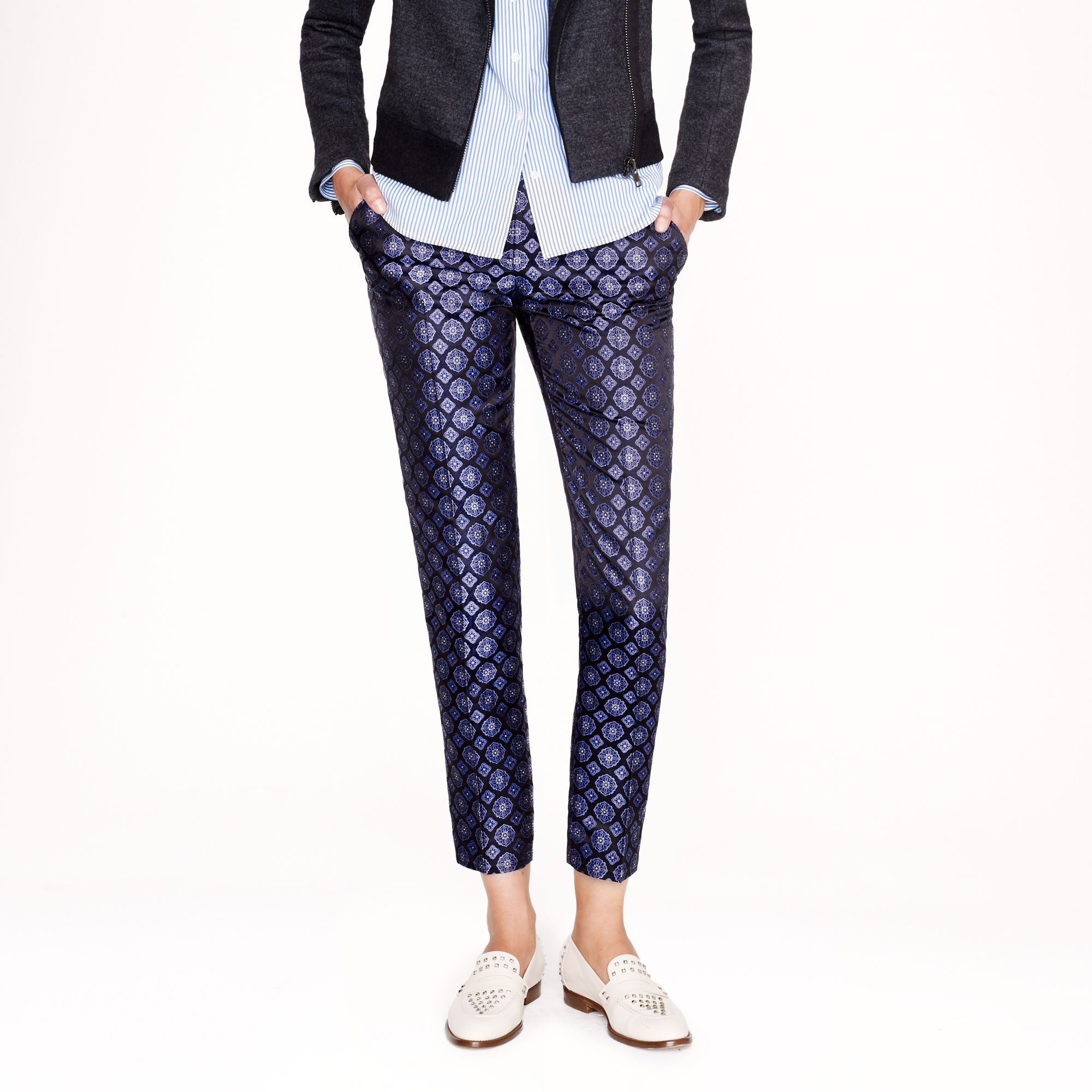 J.Crew Collection Café Capri in Tie Silk | Fancy Friday - Fancy Pants Holiday Pieces