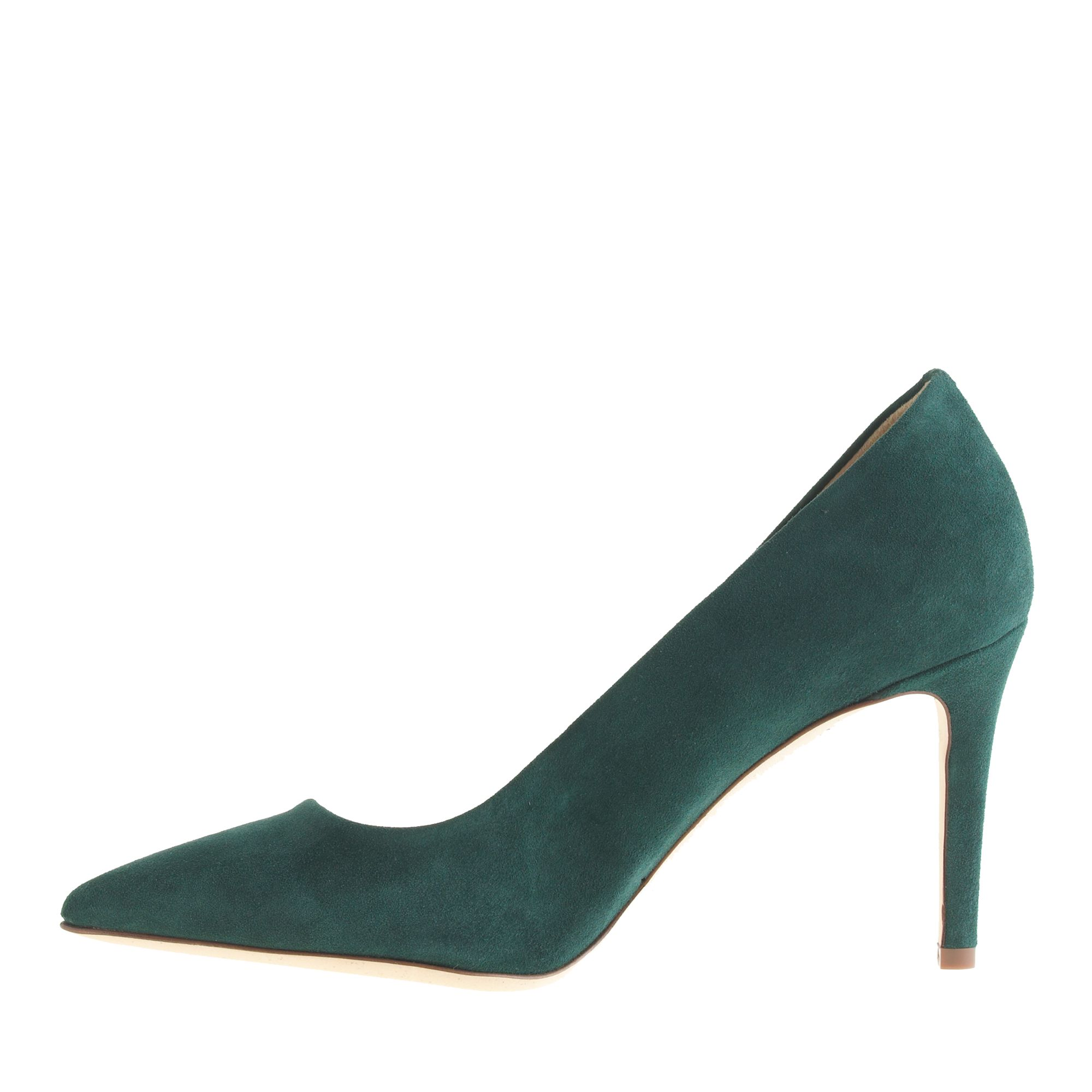 64672c6d022 Lyst - J.Crew Everly Suede Pumps in Green
