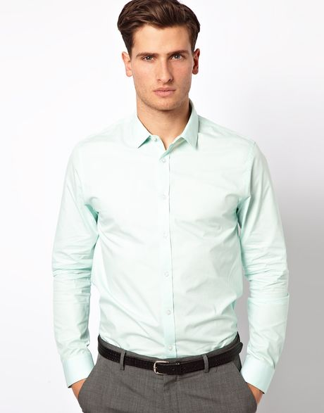Love Smart Shirt In Long Sleeve In Green For Men Mint Lyst