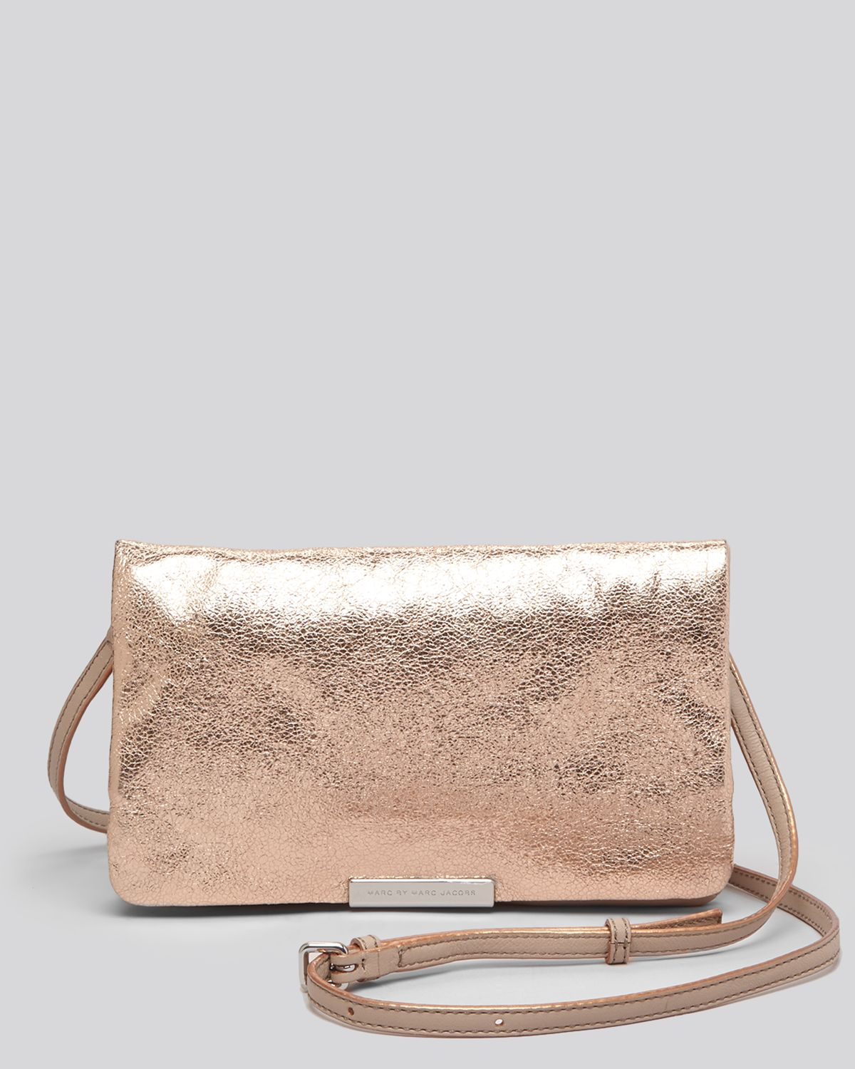 Marc by marc jacobs Raveheart Metallic Clutch in Pink