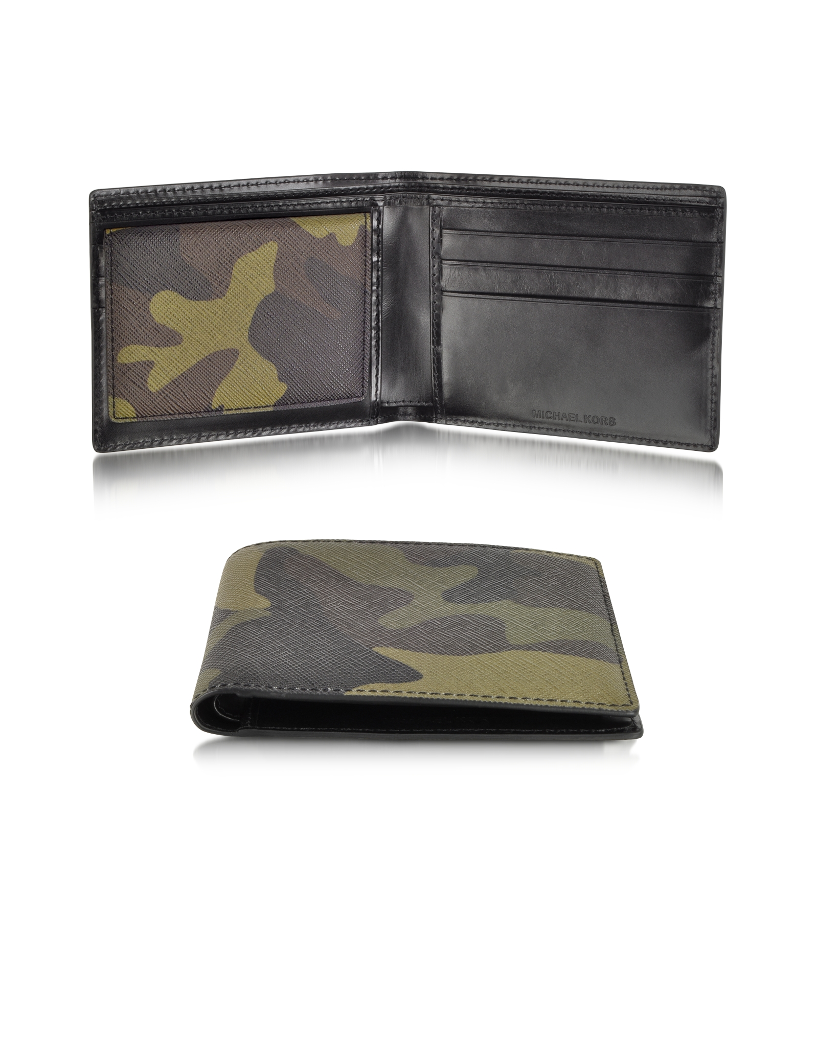 6154dcbf2320 ... low price lyst michael kors leather bifold wallet in green for men  8c3d8 8a529