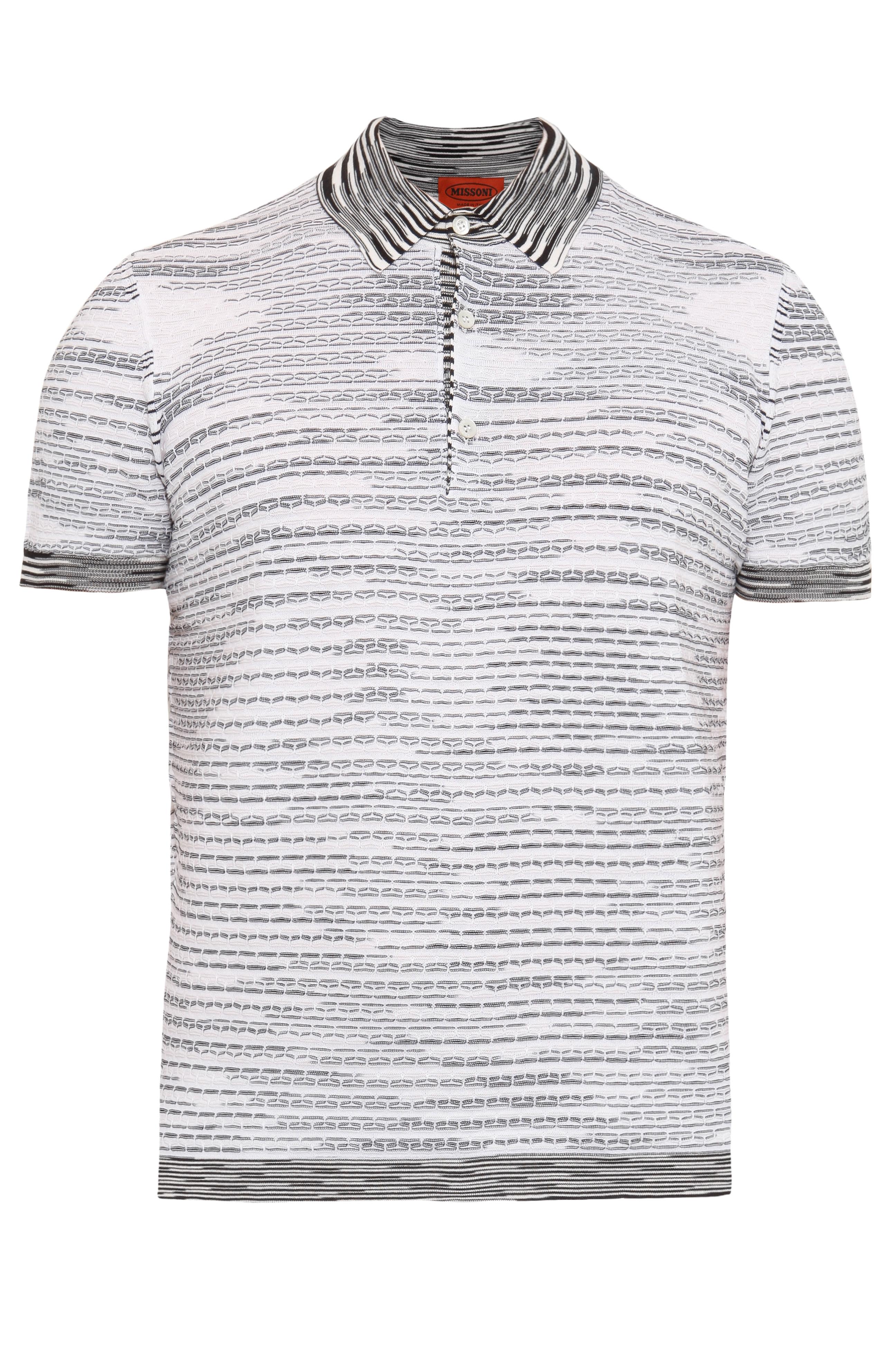 3de204001cfb26 Missoni Exclusive Patterned Cotton Polo Shirt in Black for Men - Lyst