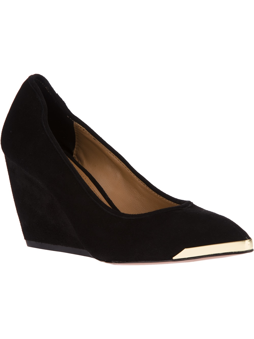 zoe pointed toe wedge in black lyst
