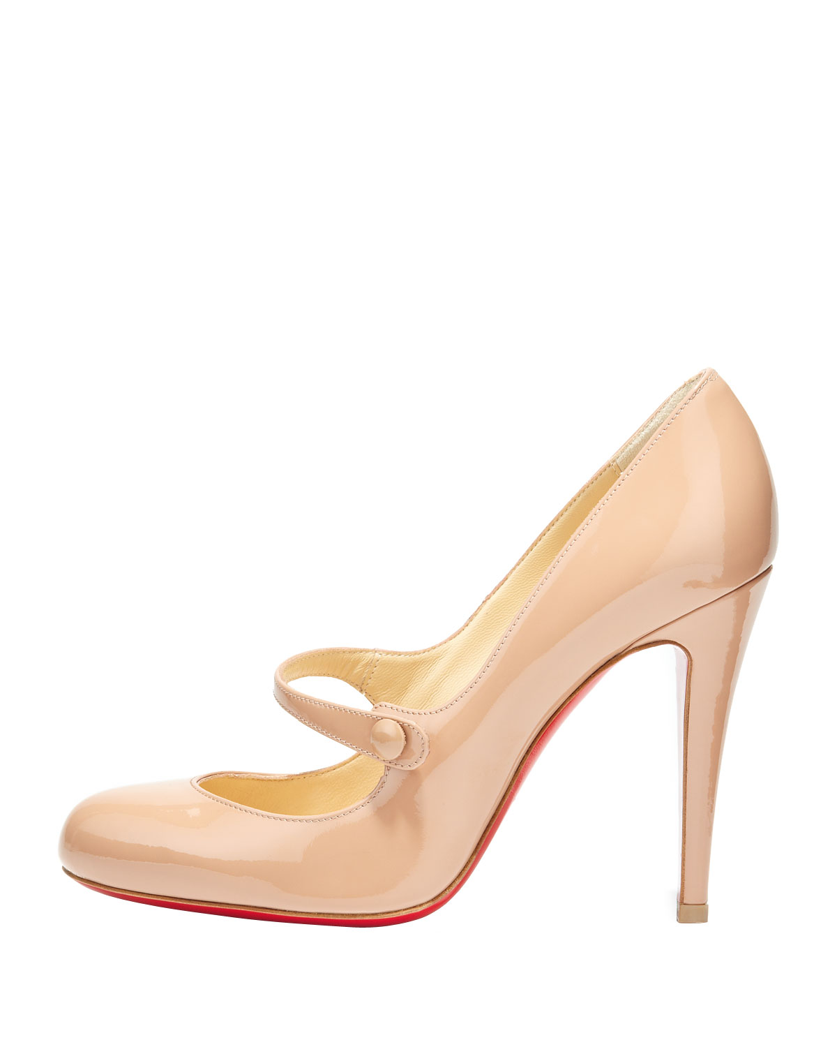 christian louboutin platform Mary Jane pumps Nude leather stiletto ...