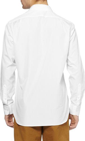 Ludlow cutaway collar cotton shirt in white for men for White cutaway collar shirt
