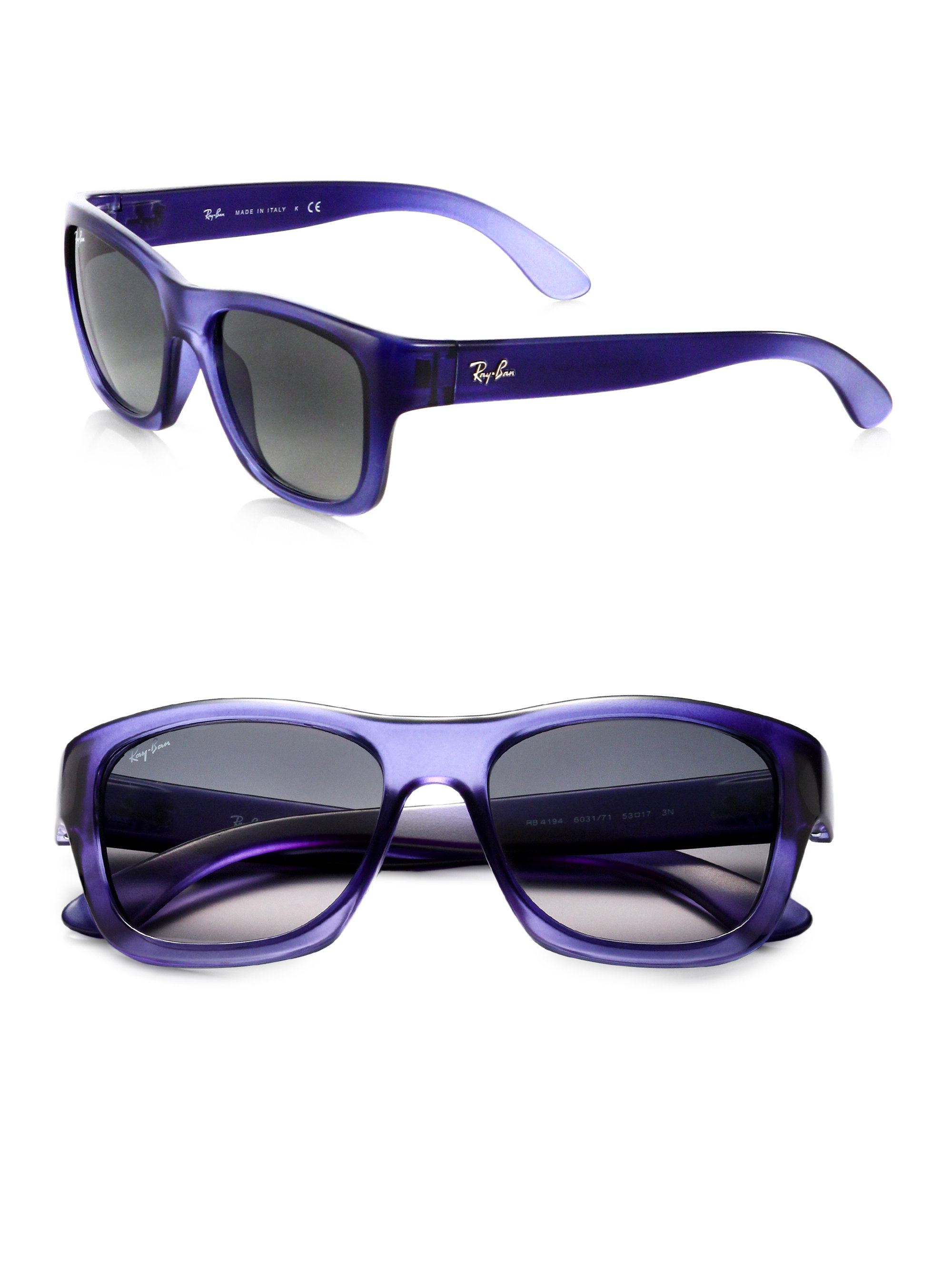 4649eca2fe Lyst - Ray-Ban Square Glam Acetate Sunglasses in Blue for Men