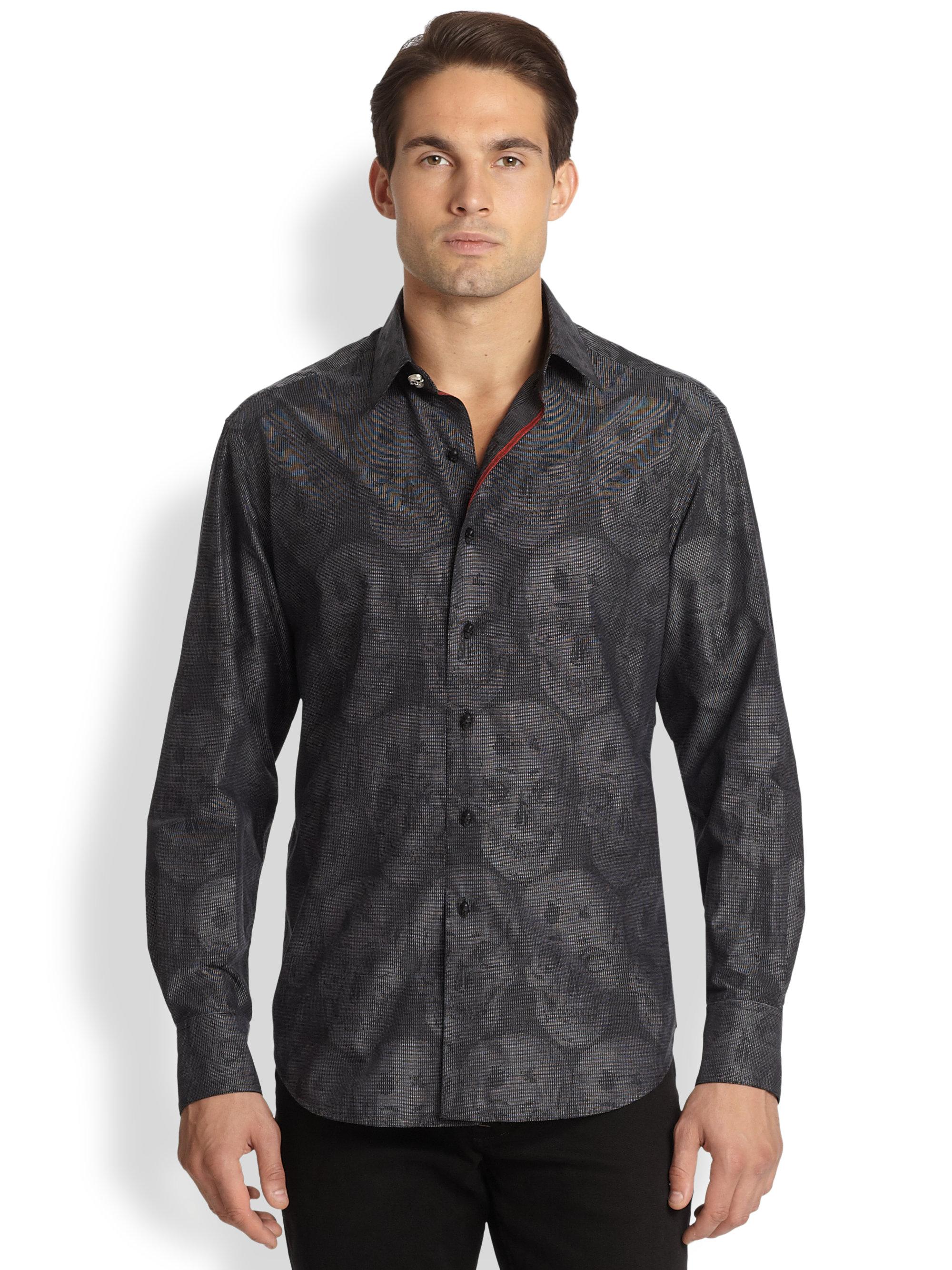 Robert Graham Bitterline Sportshirt in Gray for Men (BLACK ... Robert Graham Designer